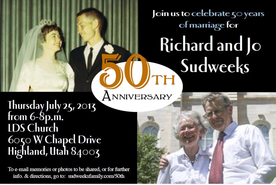50th invitation
